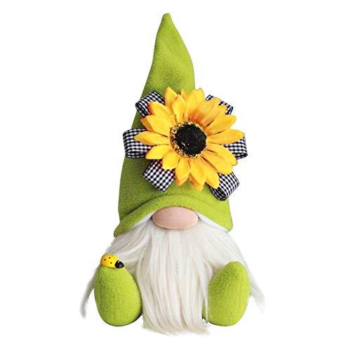 Frühlingswichtel, Plüsch Wichtel mit Sonnenblume, Gesichtslose Puppe Plüschtier, Frühlingsdeko für Wohnzimmer Schlafzimmer, Muttertagsgeschenk, Geburtstagsgeschenk (1pc B)