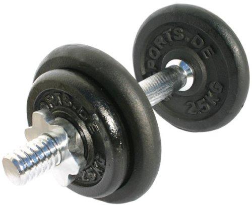 ScSPORTS 10 kg Hantelset, 1x Kurzhantel Chrom mit Sternverschlüssen und 4 Hantelscheiben (2X 2,5kg, 2X 1,25kg), Kurzhantel-Set Gewichte aus Guss