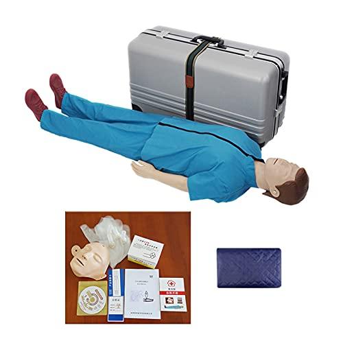 HLR-utbildning Manikin Full Body Vuxen Professionell HLR Simulator Undervisning Modell Kit Nursing Första hjälpen Dummy, realistisk touch för utbildningsverktyg