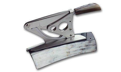 Coltelleria Saladini Zigarrenabschneider Tisch F24Ochsenhorn. Handwerkliche Messer mit Klinge geschmiedet
