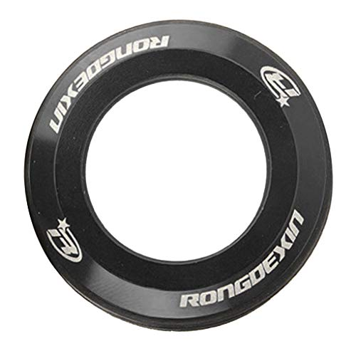 DYNWAVE マウンテン ロードバイク フロントフォーク キャップ ワッシャー ヘッドセットスペーサー チューブ 全5色 - 黒