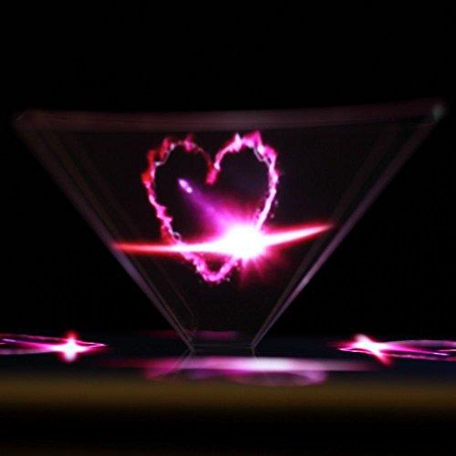 GGG 3D Hologramme Pyramide Affichage holographique vitrine pour Smartphones Cadeau Noël