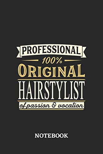 Professional Original Hairstylist Notebook of Passion and Vocation: 6x9 inches - 110 graph paper, quad ruled, squared, grid paper pages • Perfect Office Job Utility • Gift, Present Idea