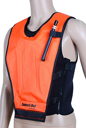 Scubapro Cruiser Snorkel Vest Adult for Men Women Inflatable Snorkeling Jacket for Snorkeling Diving Swimming, OR-MD