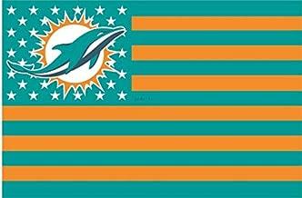 Miami Dolphins Stars and Stripes NFL Flag Banner - 3X5 FT - Orange USA Flag