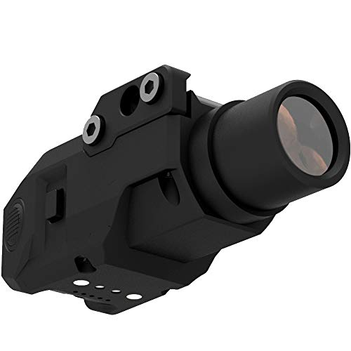Laspur Sub Compact Tactical Rail Mount LED High Lumen Flashlight Light with Strobe for Pistol Handgun, Built-in USB Magnetic Touch Rechargeable Battery Accessory Remaining Display (High Illumination)