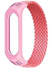 horen Armband voor Mi band 5 Strap Nylon Gevlochten armband Polsband Vervanging Horloge Strap Sport Armband Polsband voor Mi band 4 3 riem
