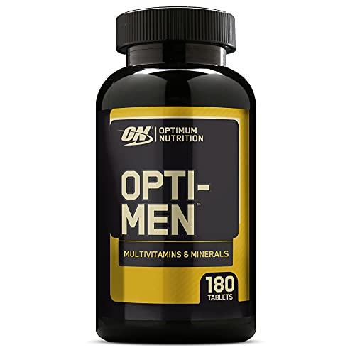 Optimum Nutrition Opti-Men, Suplemento Multivitamínico, Multivitaminas y Minerales para Hombres con BCAA, Glutamina, Vitamina C, Zinc y Magnesio, Sin Sabor, 60 Porciones, 180 Cápsulas
