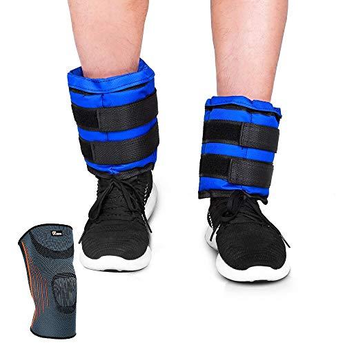 JBM - Pesas de Tobillo Ajustables para muñecas y piernas, Relleno de...