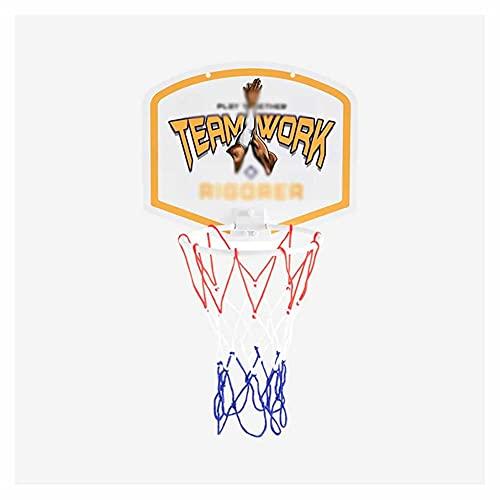 XJJUN Aro De Baloncesto, Aro De Baloncesto Colgante, Pequeño Aro De Baloncesto Portátil De Rebote Sin Perforaciones, para Niños Y Jóvenes (Color : A, Size : 28.5x24cm)