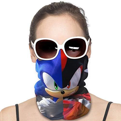 Sonic The Hedgehog Balaclava Headband Windproof Sport Mask 3D Half Face Mask Adjustable Scarf Neck Bandana for Unisex
