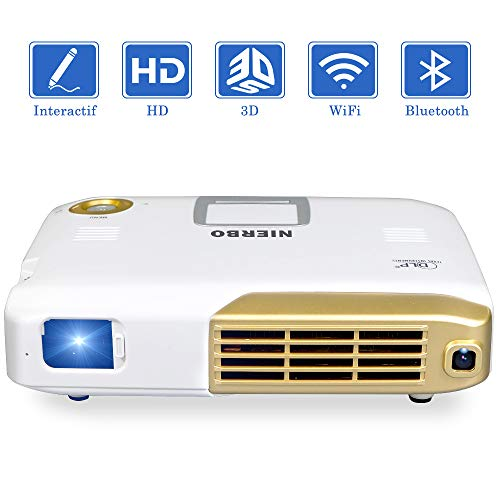 NIERBO Videoprojecteur Interactif Mini Projecteur 3D Full HD,4K...