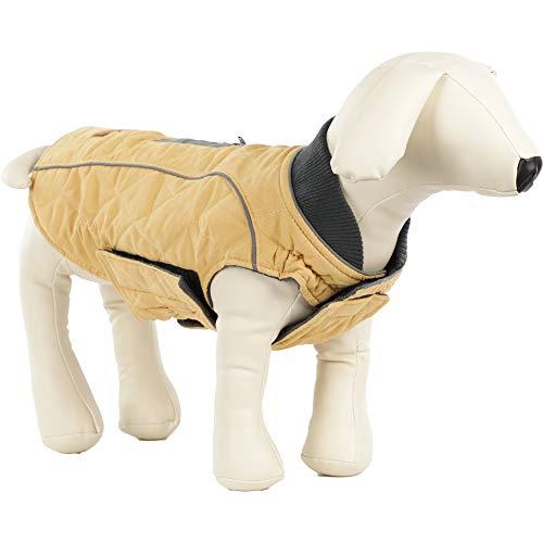 ubest Hundemantel wasserdichte Winterjacke, Warm Hundeweste Reflektierende Hundejacke für Winter und kaltes Wetter, Gelb, XS