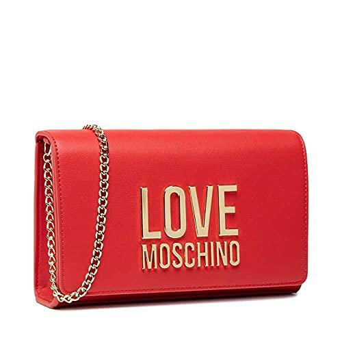 Love Moschino Donna, Borsa a Spalla, Pre Collezione Autunno Inverno 2021, Rosso, U