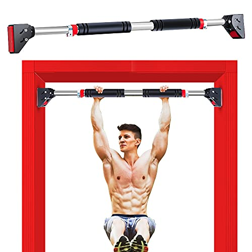 Pull Up Bar for Doorway, Adjustable Width Door Pull Up Bar No Screw Strength Training Pull-Up Bars with High Density Foam, Home Gym Chin Up Bar Doorway Workout Bar for Exercise & Fitness & 440 LBS
