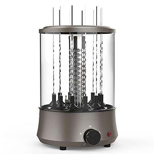 Parrilla eléctrica sin humo,parrilla eléctrica con bandeja de grasa,parrilla eléctrica giratoria independiente,tiempo de calentamiento ajustable,adecuado para parrillas domésticas y de balcones