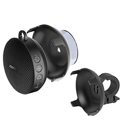 TIMIX Fabric Bluetooth Shower Speaker with Suction Cup, Outdoor Wireless Bike Speaker with Bicycle...