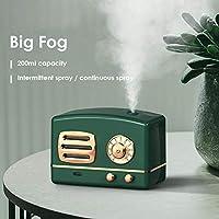 ミニディフューザーUSBアロマテラピーアロマディフューザーレトロな空中加湿器200ml家のための小さな超音波ビッグ霧の量の加湿器