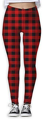 LVOE TTL Personnaliser Red Black Buffalo Check Plaid Femmes Power Flex Pantalon de yoga Entraînement Running Leggings