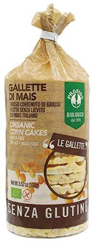 Probios, Viva Mais Gallette di Mais, Cialde di mais con sale senza glutine, 100 gr