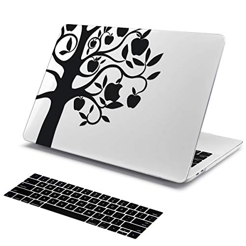 Batianda Crystal Clear Ultra Thin Imaginative Design with Keyboard Cover Protective Case for Apple MacBook Air 13 inch Model:A1466 / A1369 2010-2017 Version (Apple Tree)