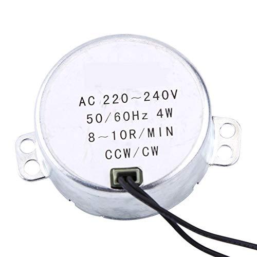 Motor Síncrono, 1Pc 220-240V AC 4W Motor Síncrono Engranado Motor CW/CCW, Bajo Consumo Y Bajo Ruido(8-10RPM)
