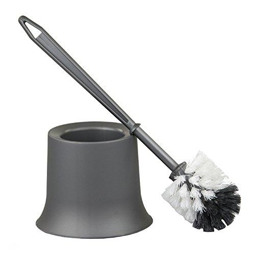 Home Basics Toilet Brush Holder, Grey