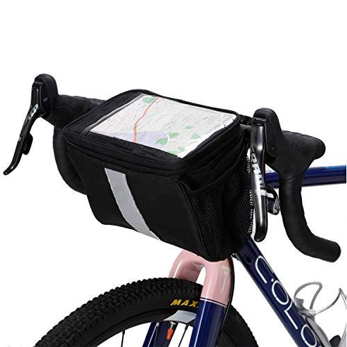 Bike Handlebar Bags for Warm or Cold Items Bicycle Front Frame Bag Bike Baskets Bag