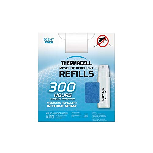 Thermacell Mosquito Repellent Refills, 300-Hr Pack; Contains 75 Repellent Mats, 25 Fuel Cartridges; Compatible with Any Fuel-Powered Thermacell Product; No Spray, Scent, Mess