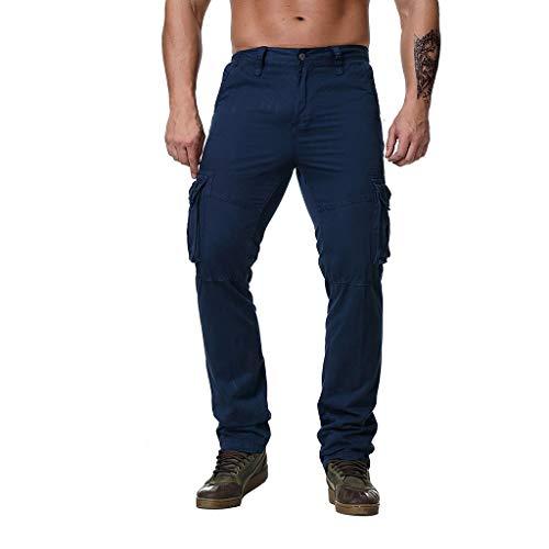 Makalon heren sportbroek, grote maat, werkbroek, voor mannen, jeanbroek, slim, donkerblauw, XXXXXXXXXXL