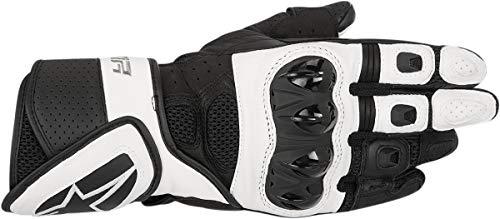 Alpinestars 3302-0501-PU Motorrad Handschuhe, Schwarz/Weiss, M