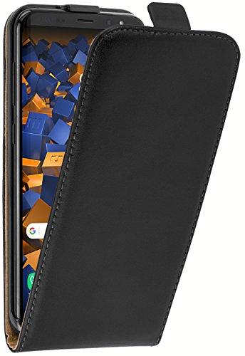 mumbi Echt Leder Flip Hülle kompatibel mit Samsung Galaxy S8+ Hülle Leder Tasche Hülle Wallet, schwarz