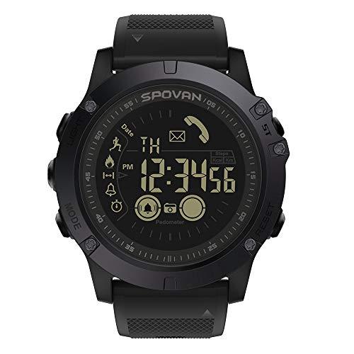 Lixada Outdoor Digital Smart Sportuhr für Männer mit Pedometer Armbanduhr für iOS und Android 50M wasserdicht