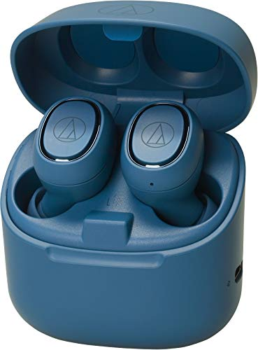 Audio-Technica ATH-CK3TWBL Wireless in-Ear Headphones, Blue, Bluetooth 5.0, Water-Resistant, 6 hr Battery