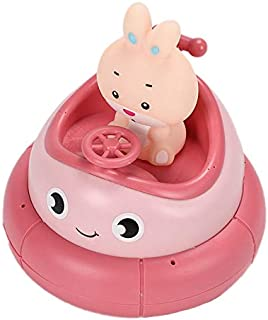 JVSISM Bath Toy Rotates Floats Water Shower Toy Battery Powered Pool Swimming Bathtub Toys for Toddlers - Pink