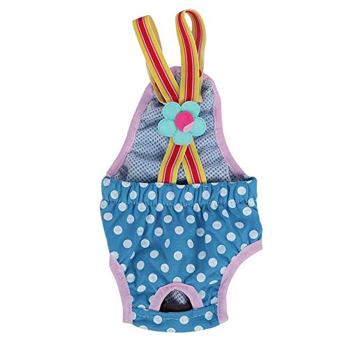 GLOGLOW 6 Tailles Femelle Couche-Culotte pour Chien, Lavable Chien sanitaires Pantalon Élégant physiologique menstruelle Culotte de sous-Vêtements(M)