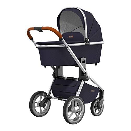 MOON RESEA S – Komfort Kombi-Kinderwagen in navy – flexibel und sehr klein faltbar