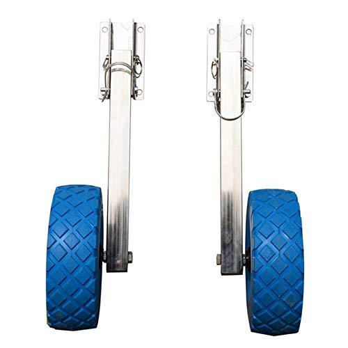 TRF El Lanzamiento de Espejo de popa de la Rueda, Acero Inoxidable Barco Lanzamiento de Dolly - neumático sólido, fácil de Instalar - Conveniente para los Barcos inflables/Caucho y Kayak