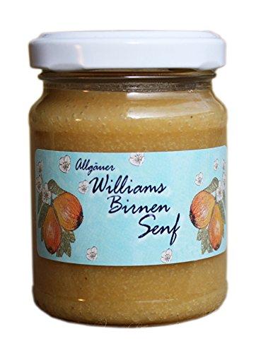 Süßer Senf Williams Birne | 145g süßer Feinkost Senf aus dem Allgäu