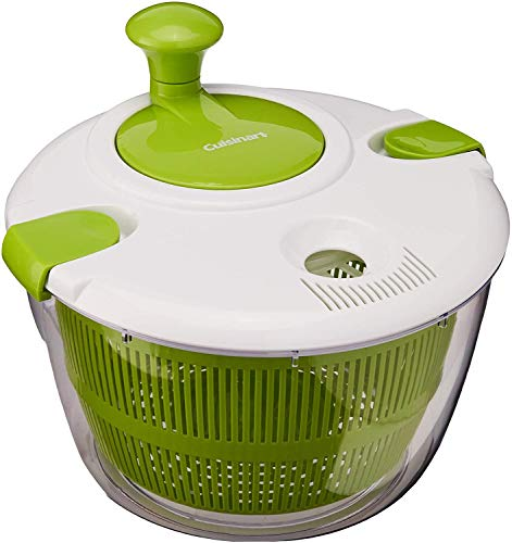 Salad Spinner Large 5 Quarts Fruits and Vegetables Dryer Quick Dry Design Dry off and Drain Lettuce and Vegetable with Ease for Tastier Salads and Faster Food Prep