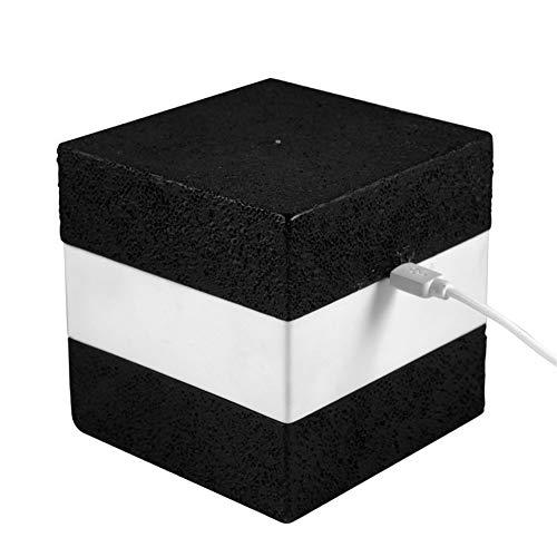 Ai-yixi diseño Original Cubo Night Light USB Recargable Noche Luz Feeding Light Cafe Bar Atmosphere Sluttish Creativo Colorido LED Luz Diseño de casa Simple (Color : Tricolor, Size : Black)