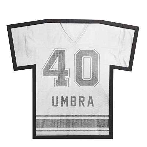 Umbra, Black T-Frame, Unique Sports Display Case To Showcase Adult Sized Football, Baseball, Soccer or Hockey Jerseys (up to XXL), Large