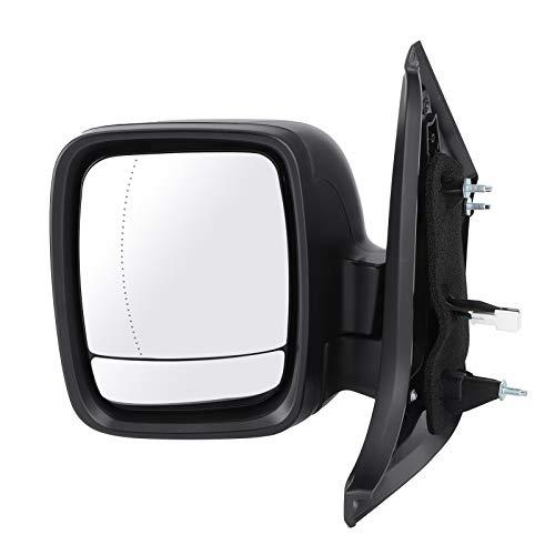 WAQU Espejo retrovisor de Coche, Espejo retrovisor eléctrico, ala Izquierda, Pasajero Lateral 95517318 Apto para Renault Trafic 15-20