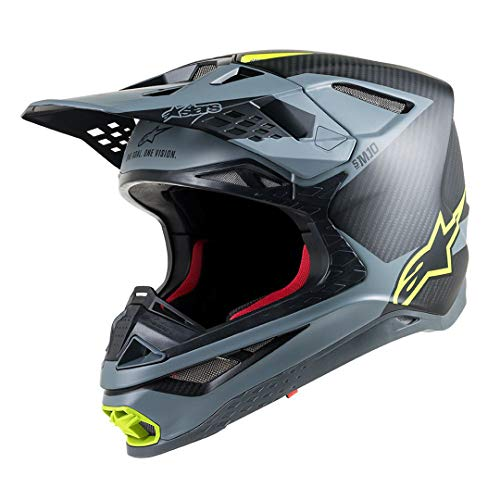 Alpinestars Supertech S-M10 Meta Motocross Helm Schwarz/Gelb M