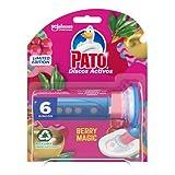 PATO Discos Activos WC Berry Magic, Limpia y Desinfecta, Contiene 1 Aplicador + 1 Recambio, Rosa