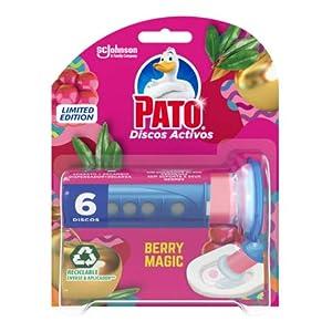 PATO Discos Activos WC Berry Magic, Limpia y Desinfecta, Contiene 1 Aplicador + 1 Recambio