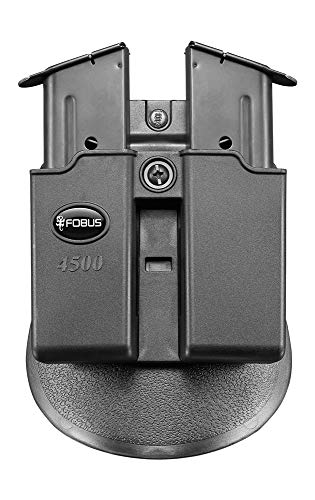 Fobus 4500NDP Evolution Double Mag Pouch for 1911 & .45 Single-Stack Double Magazine Pouch, Ambidextrous Paddle