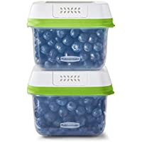 2-Pack Rubbermaid Medium Short Produce Storage Containers