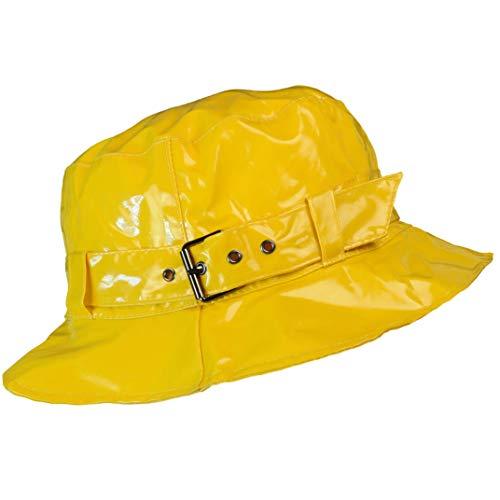 Toutacoo, Regenhut, Wasserdicht, Wachstuch-Optik (7-einfarbig Gelb)