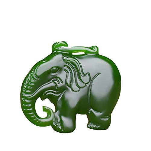 Natural Hetian Jade Auspicious Ruyi Jade Pendant New Hetian Jade Elephant Pendant Safety Lock Pendant Send Lanyard